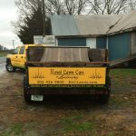 Royal Lawn Care truck with trailer at North Bay Marina